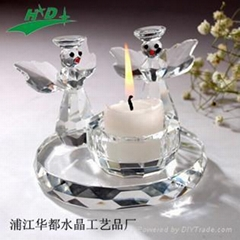 crystal candlestick/candle holder HD-T014