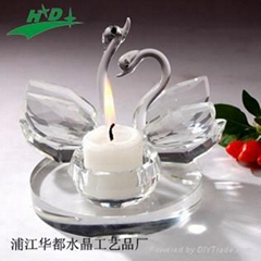 crystal candlestick/candle holder HD-T017
