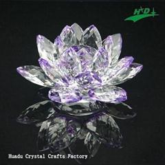 水晶花形烛台 HD-F012