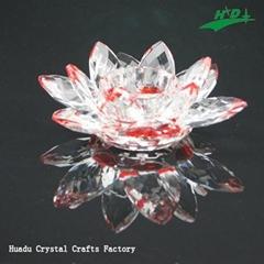 水晶花形烛台 HD-F011