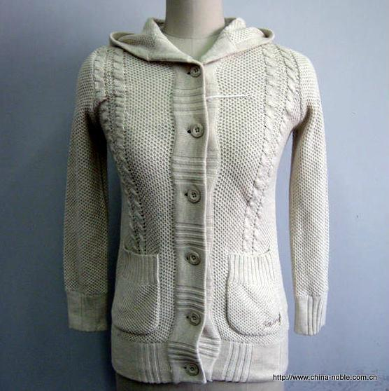 Plain Hoodie Cardigan Sweater for Ladies - RZ-DX-15 - SWEATER ...