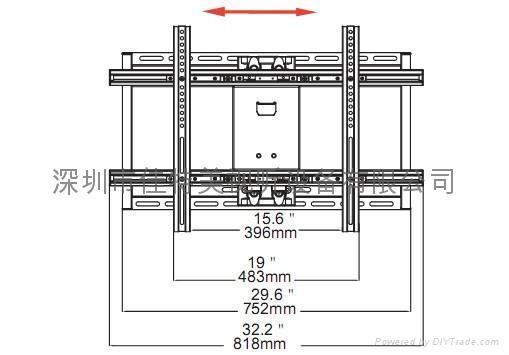 液晶等离子电视机壁挂架 2