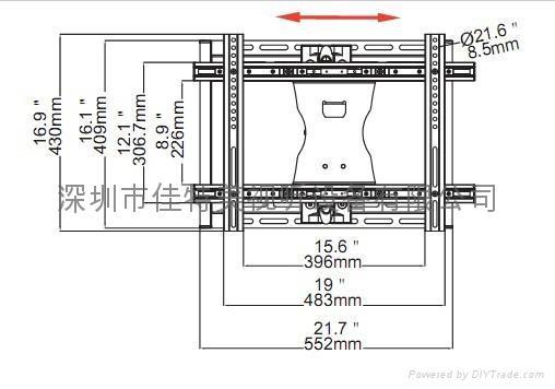 液晶电视机延伸壁挂架  2