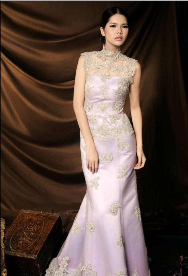 Embroidered evening dresses 1