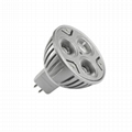 UL led spotlight bulbs MR16 spot light 3X3W