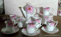 Chaozhou bone china cup and saucer set wholesale