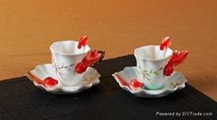 法兰瓷之咖啡杯碟套装