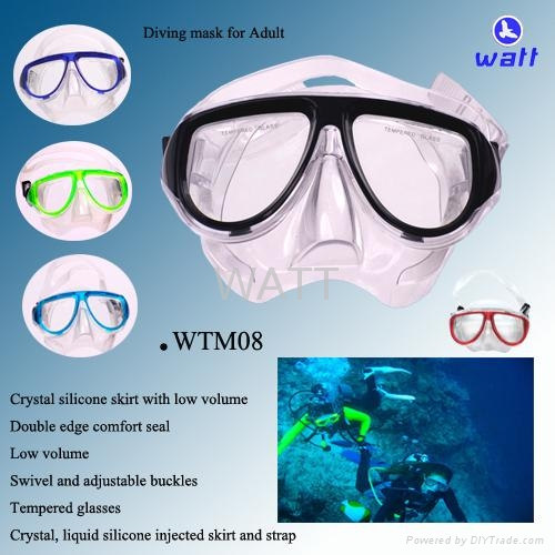 Twin lens mask and snorkel sets diving equipment scuba diving mask