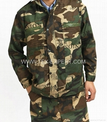 woodland camouflage uniform