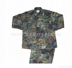 German woodland camouflage uniform