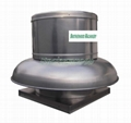 Centrifugal roof mounted exhaust fan or