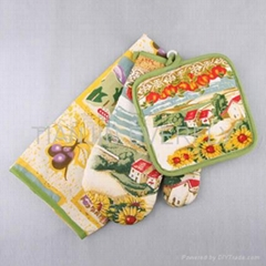 apron+glove+pot holder set