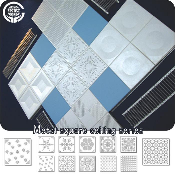 Aluminum Square Ceiling Tilesdecoration Materials 01 Xinjing