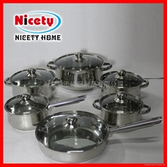 Stainless Steel 12pcs cookware sets