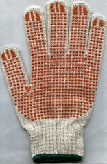 Knitting working gloves