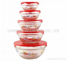 GLASS BOWL WITH 5PCS