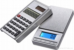 pocket scale with calculator, big platform