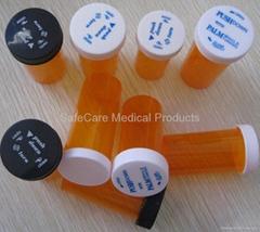 child-resistant medicine vials Pop Top cap Squeeze top