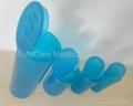 Hinged Cap PP Vials Plastic Pop Top Bottles FDA Quality