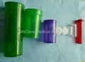 Plastic vial of Pop Up Top Pill Vials PP bottles FDA Child-resistant style