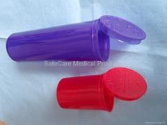 PP tablet Squeeze pop up style Vials Pop Top bottles