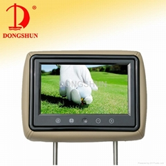 9 inch touch button headrest monitor
