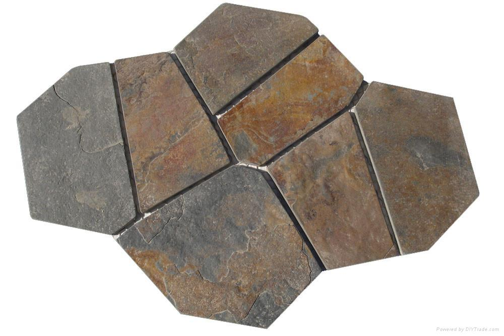 Rust Slate Meshed Flagstone Rx403 Ruixin China Laminate