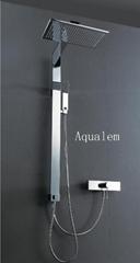 Brass rectangular shower column sets with mixer