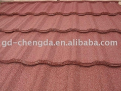 popular stone coated metal roof tile