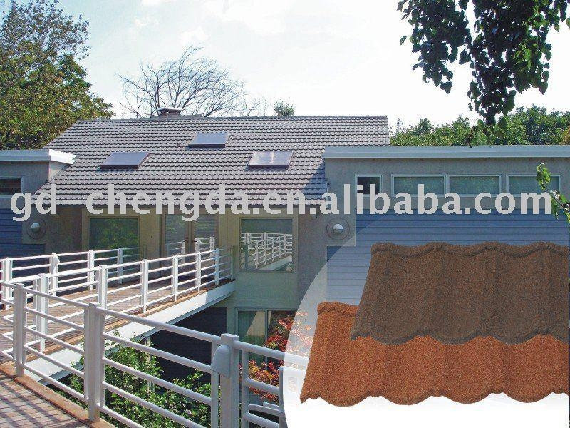 Sun stone coated metal roof tile 2