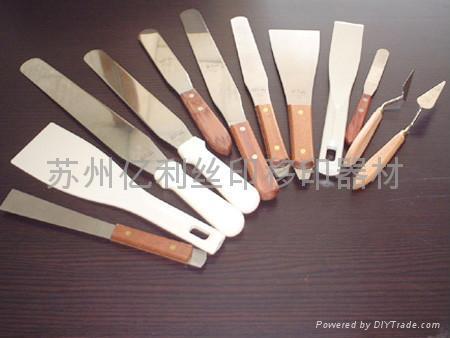 进口网纱 移印钢片 进口刮胶 油墨刀 5