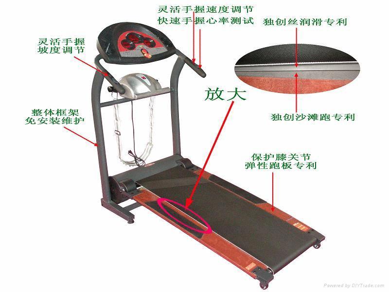 折疊沙灘電動跑步機健身器材 2