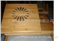 Bamboo folding big fan computer desk