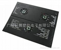 酷统折叠铁板三风扇笔记本电脑散热器