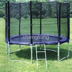 8-16ft trampoline with safety net