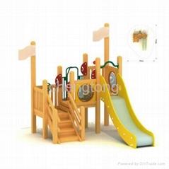 wooden outdoor playground