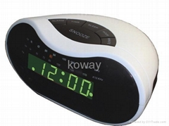 "0.6"" AM/FM LED Alarm Clock Radio"