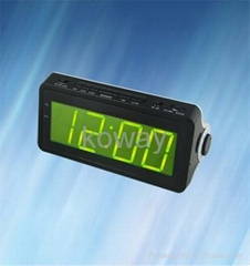 "AM/FM LED Alarm Clock Radio with 1.8"" Large Panel LED Display"