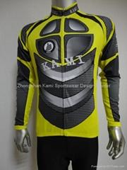 sublimation transfer printing long sleeve cycling jersey/bike jersey/cycling shi