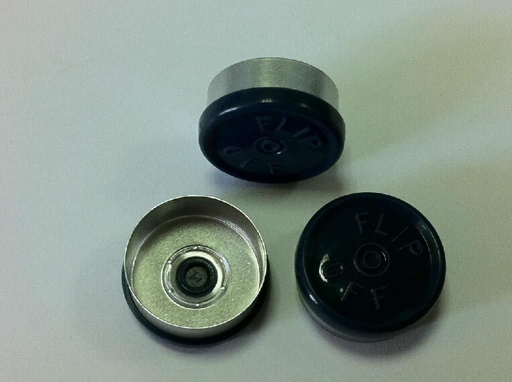 20mm Al-Plastic flip off caps 2