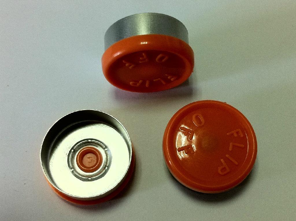 20mm Al-Plastic flip off caps 3