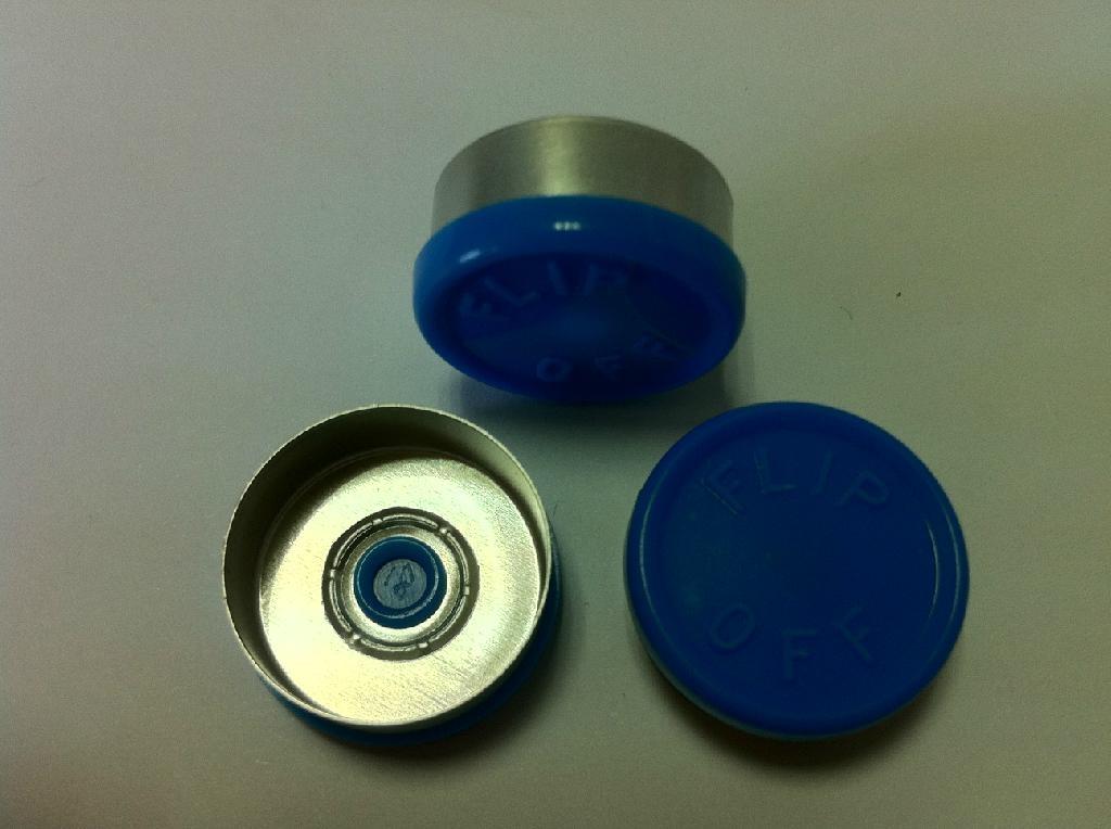 20mm Al-Plastic flip off caps 1
