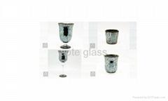 masaic glass candle holder