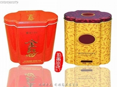 梅花型大紅袍系列茶葉鐵盒罐
