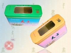 高級開窗單孔PVC茶葉鐵盒系列