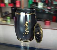 金絲紅茶葉鐵盒