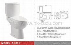 wash down good quality of two piece toilet
