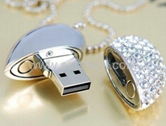 lovely heart-shaped usb flash disk