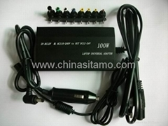 100W Vehicle-mounted laptop universal power adapter