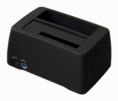 """2.5""""&3.5""""Superspeed USB3.0 to SATA Docking with Fan"""